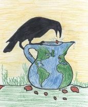 Crow & Water Pitcher World Logo darker