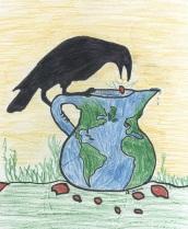 Crow & Water Pitcher World Logo darker